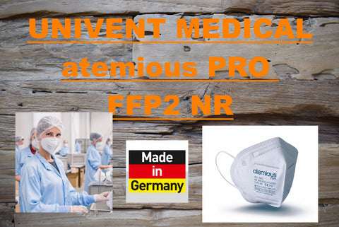 UNIVENT MEDICAL atemious PRO Atemschutzmaske Art. 2001 FFP2 NR im 30-er Pack