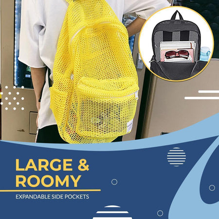 Lightweight Large-Capacity Mesh Backpack tee parts
