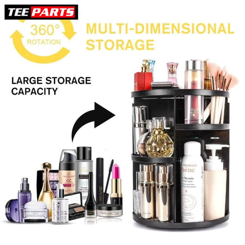 360-degree Rotating Makeup & Jewelry Organizing Box - beauty