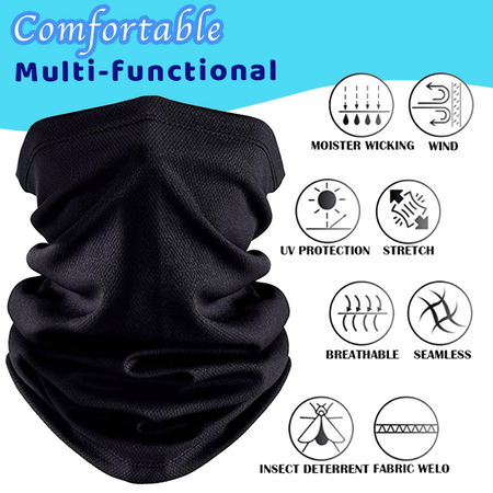 Breathable Sun Protection Cooling Neck Gaiter tee parts