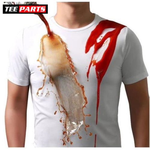 Anti-Dirty Hydrophobic WaterProof T-Shirt - Short Sleeve / White / S - hydrophobic - Safe - shirt