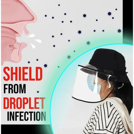 Anti-Virus Visor Shield Hat - Safe