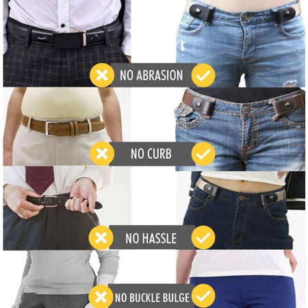 Buckle-Free Adjustable Belt - Navy - beauty - health - home