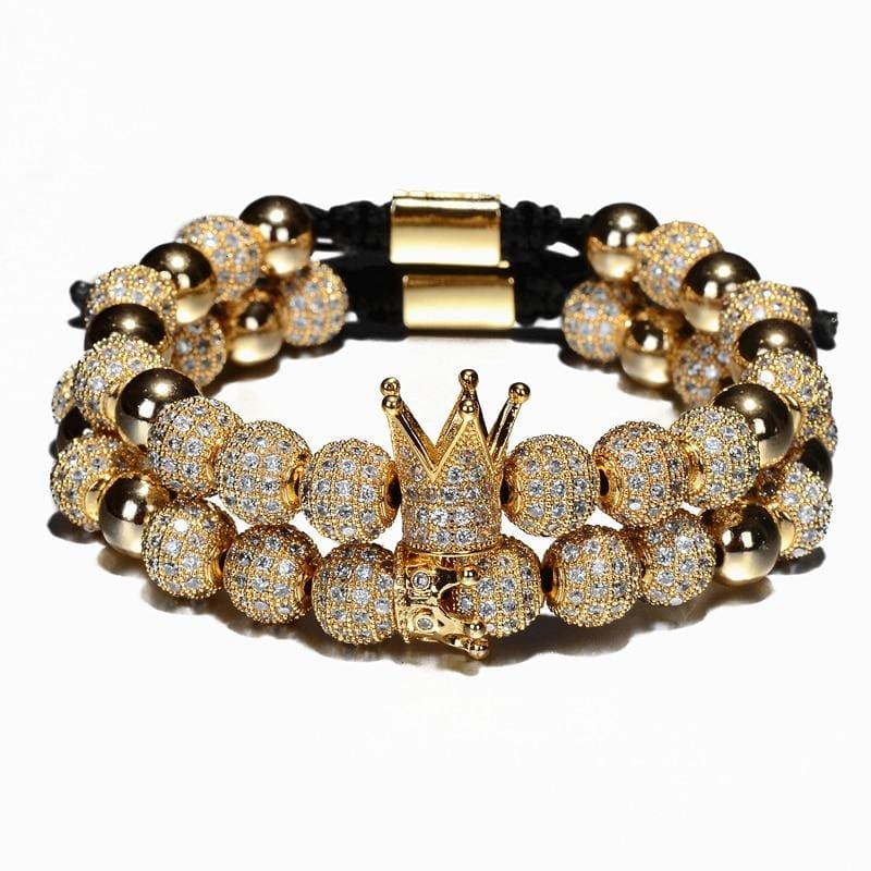 BUGATTI ROYAL GOLD 2 PCS - Gold Crown Set - bracelet