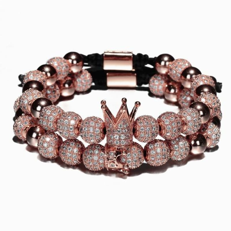 BUGATTI ROYAL GOLD 2 PCS - Rose Gold Crown Set - bracelet