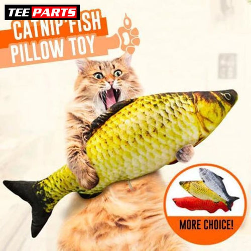 Catnip Fish Pillow Toy - pet