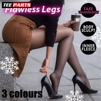 Flawless Legs Fake Translucent Warm Fleece Pantyhose - care - things