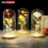 Forever Enchanted Galaxy LED Red Rose In A Glass Dome - home - love