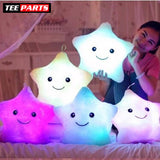 Kids Luminous Star Cushion Pillow Plush Doll Led Light Colorful Glowing Toys - baby - kids