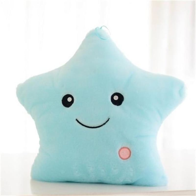 Kids Luminous Star Cushion Pillow Plush Doll Led Light Colorful Glowing Toys - Blue / United States - baby - kids