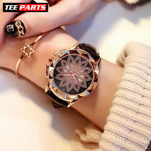 Luxury Gold Women Watch - Black - watch