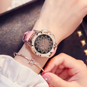 Luxury Gold Women Watch - Red - watch
