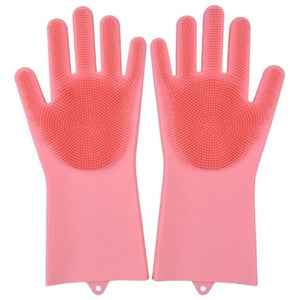 Magic Silicone Scrub Gloves - Pink / United States