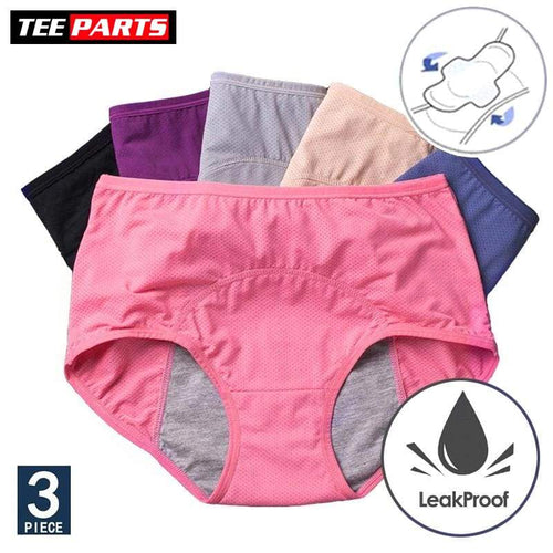 Menstrual Panties Women Sexy 3pcs/Set Period Underwear - health - period panties - Safe