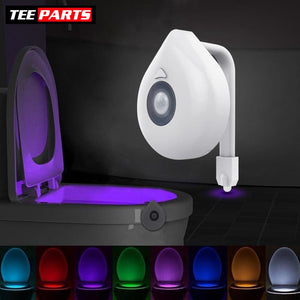 Motion Activated LED Toilet Bowl Night Light - Round Version - night light
