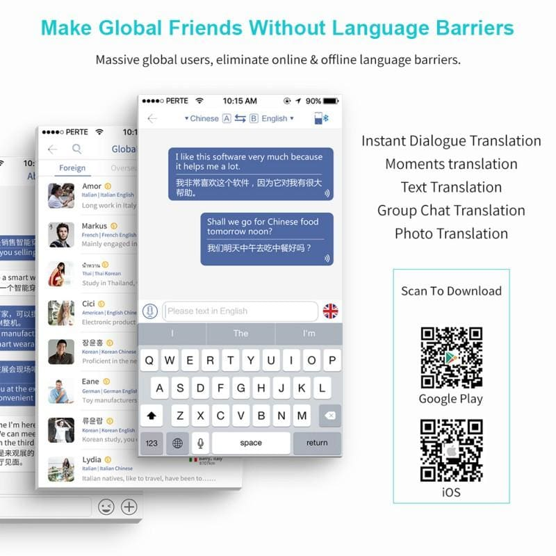 MUAMA Enence Instant Translator 40+ Languages