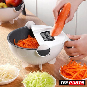 Multifunctional Vegetable Cutter With Strainer - home - kitchen