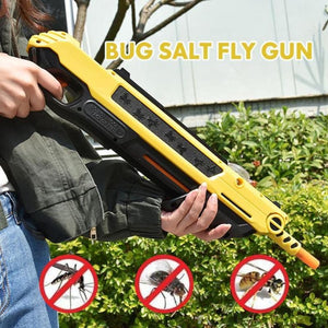 Pest Buster! - Flies Salt Gun - Say goodbye to pest invasion! - Upgraded version (infrared sight) / White With Aim - kids - outdoors - toy -