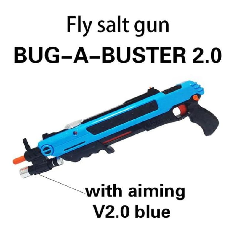 Pest Buster! - Flies Salt Gun - Say goodbye to pest invasion! - Upgraded version (infrared sight) / Blue With Aim
