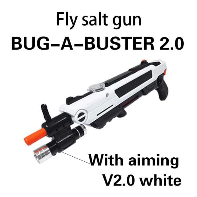 Pest Buster! - Flies Salt Gun - Say goodbye to pest invasion! - Upgraded version (infrared sight) / White With Aim