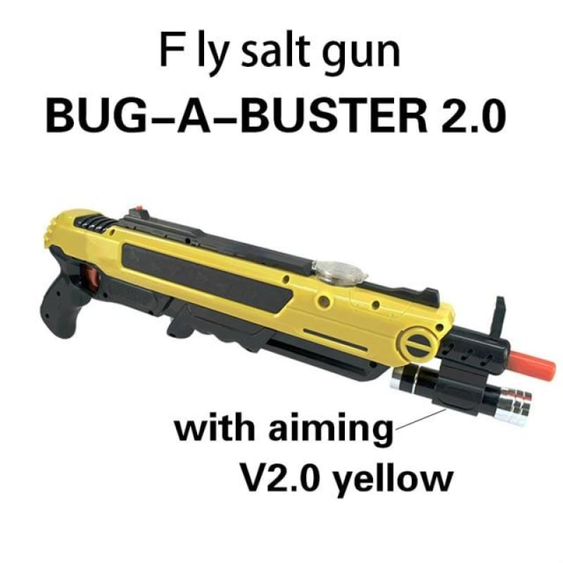 Pest Buster! - Flies Salt Gun - Say goodbye to pest invasion! - Upgraded version (infrared sight) / Yellow With Aim