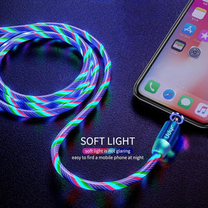 Udyr Led Magnetic Charging Cable - Blue IOS Cable / 2m