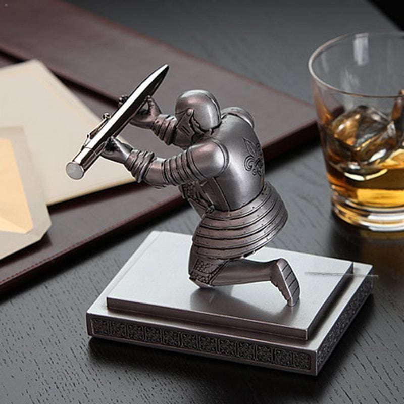 Executive Soldier Figurine Knight Pen Holder