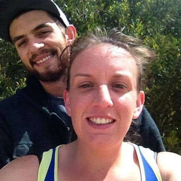 a man and a woman smiling for the camera: Jari Wise, 26, died after being struck by a car in Tasmania and his girlfriendMelissa Oates, 34, was arrested at the scene and charged with four breaches of a police family violence order