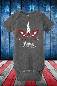 GRAY BABY MERICA UNICORN