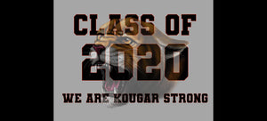 "2020 KOUGAR STRONG 24""W by 18""T GRAY BACKGROUND"