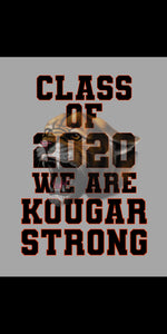 "KOUGAR STRONG 2020 18""W x 24""T GRAY BACKGROUND"