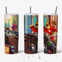 Roblox 4  20oz Stainless Steel Tumbler with Straw & Lid