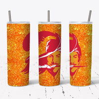 Orange Buccaneer  20oz Stainless Steel Tumbler with Straw & Lid