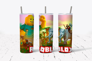 Roblox 3  20oz Stainless Steel Tumbler with Straw & Lid
