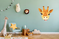 Baby animal head removable wall art