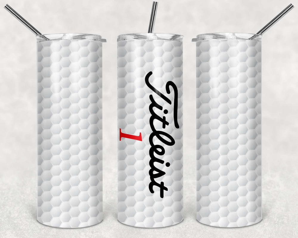 Titleist golf ball 20oz Stainless Steel Tumbler with Straw & Lid