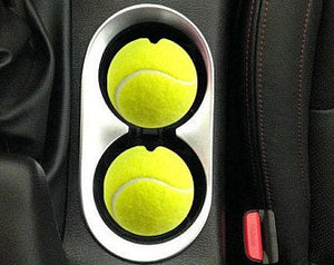 "Tennis ball Car Coasters  ""SET"""