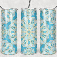 White Flower  20oz Stainless Steel Tumbler with Straw & Lid