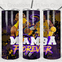 Mamba 4Ever  20oz Stainless Steel Tumbler with Straw & Lid