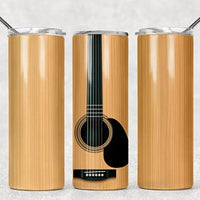 Guitar  20oz Stainless Steel Tumbler with Straw & Lid