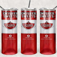 Swisher Sweets 20oz Stainless Steel Tumbler with Straw & Lid