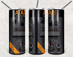 ATARI 20oz Stainless Steel Tumbler with Straw & Lid