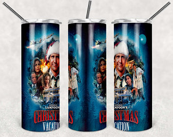 Christmas Vacation 20oz Stainless Steel Tumbler with Straw & Lid
