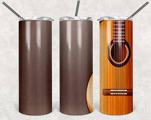 Guitar 3 20oz Stainless Steel Tumbler with Straw & Lid