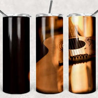 Guitar 2 20oz Stainless Steel Tumbler with Straw & Lid