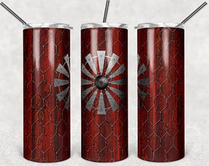 Cherry Wood, & Chicken Wire 20oz Stainless Steel Tumbler with Straw & Lid