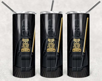 Lego Darthvader 20oz Stainless Steel Tumbler with Straw & Lid