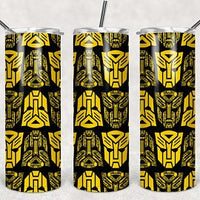 Transformers 20oz Stainless Steel Tumbler with Straw & Lid