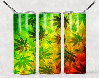 Weed TieDye 20oz Stainless Steel Tumbler with Straw & Lid