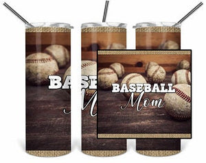 Baseball MOM 2 20oz Stainless Steel Tumbler with Straw & Lid
